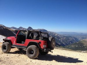 A Jeep overlooking Ouray