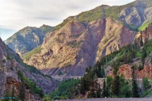 Uncompahgre Gorge on the Million Dollar Highway