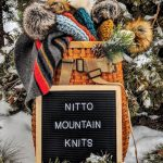 A sign for Nitto Mountain Knits, a Colorado small business