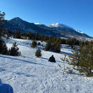 A slope at Frisco Adventure Park, home of some of the best sledding in Colorado