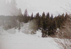 An open area for sledding in Leadville, Colorado