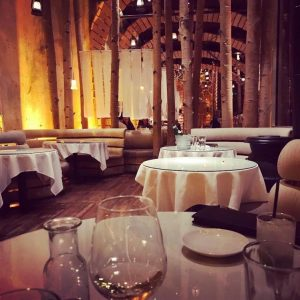 The interior of Beatrice & Woodsley, one of the most romantic restaurants in Denver