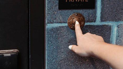 "The ""golden doorbell"" at B&GC, one of the most secretive speakeasies in Denver"