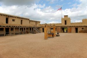 The inner courtyard at Bent's Old Fort, one of many Colorado historical places to visit