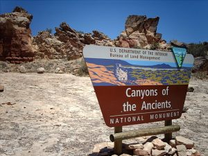 Canyons of the Ancients National Monument is close to Four Corners, where you can stand in four states at once