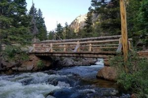 A river and bridge in Rocky Mountain National Park, one of the best national parks in Colorado