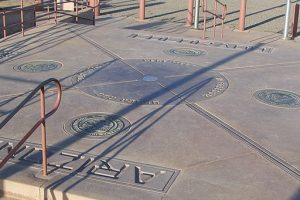 The Four Corners Monument, where people can stand in four states at once