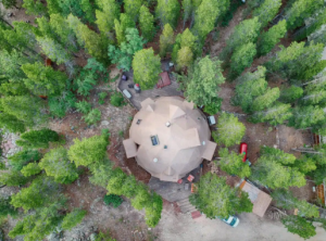 A completely spherical dome in the forest, one of the most unique places to stay in Colorado