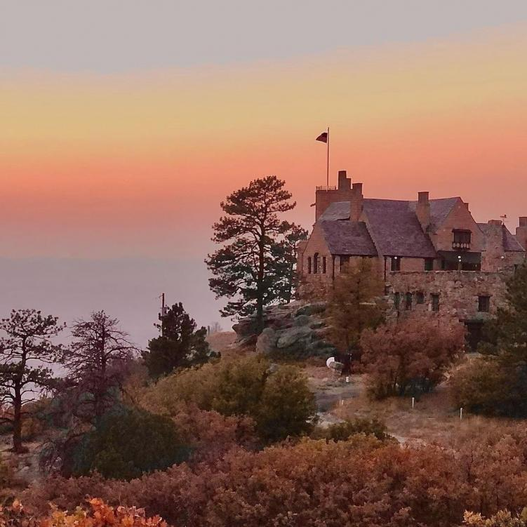 Cherokee Ranch and Castle at sunset