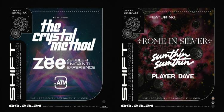 SHIFT Thursday The Crystal Method Rome in Silver